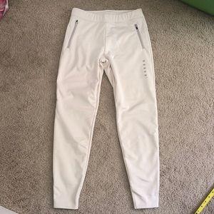 NWT Uniqlo cream fleece lined blocktech pants XS